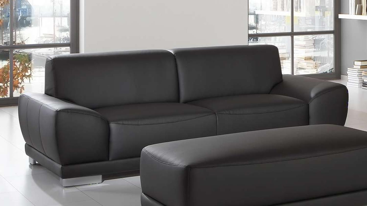 sofa manila 3 sitzer in schwarz mit federkern und. Black Bedroom Furniture Sets. Home Design Ideas