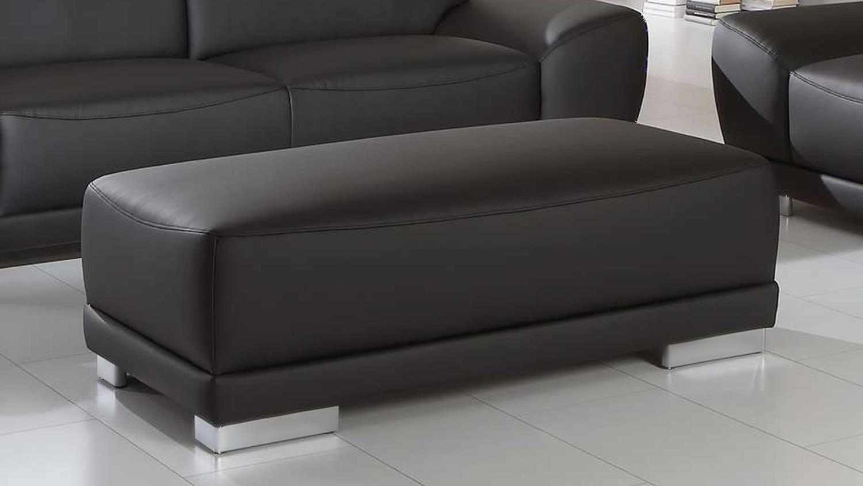 Sofagarnitur Manila 3 Sitzer 2 Sitzer Hocker In Schwarz Mit Federkern