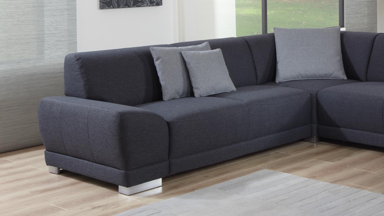 wohnlandschaft manila in stoff anthrazit mit federkern und. Black Bedroom Furniture Sets. Home Design Ideas