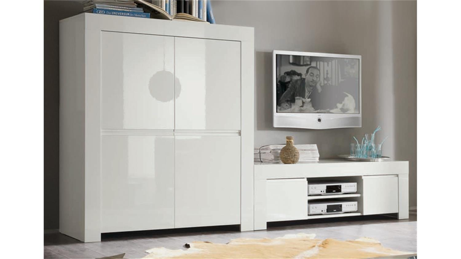 tv board amalfi wei echt hochglanz lackiert 140cm breit. Black Bedroom Furniture Sets. Home Design Ideas