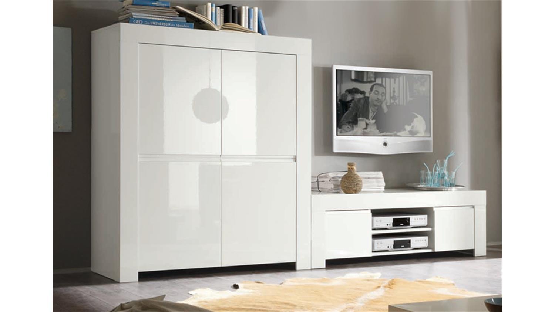 highboard amalfi in wei echt hochglanz lackiert 4 t rig. Black Bedroom Furniture Sets. Home Design Ideas