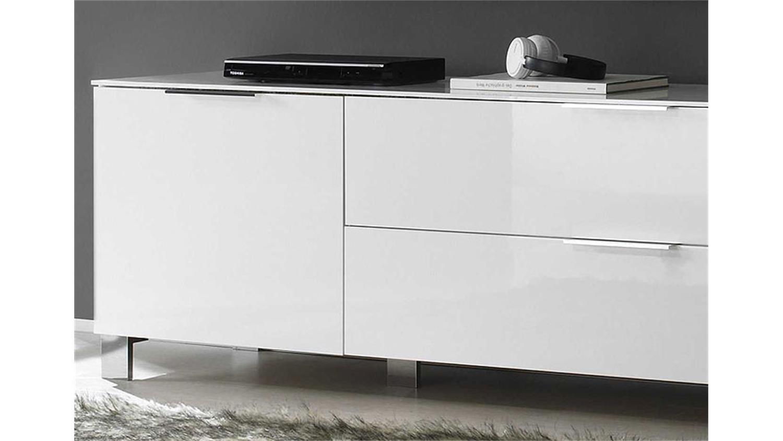 lowboard weiss echt hochglanz lackiert. Black Bedroom Furniture Sets. Home Design Ideas