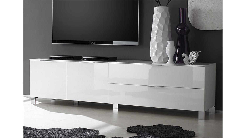 lowboard weiss echt hochglanz lackiert woody inspirierendes design f r wohnm bel. Black Bedroom Furniture Sets. Home Design Ideas