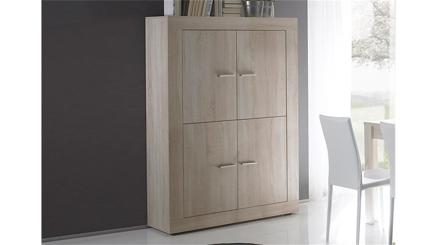 highboard rustica sideboard kommode sonoma eiche melamin. Black Bedroom Furniture Sets. Home Design Ideas