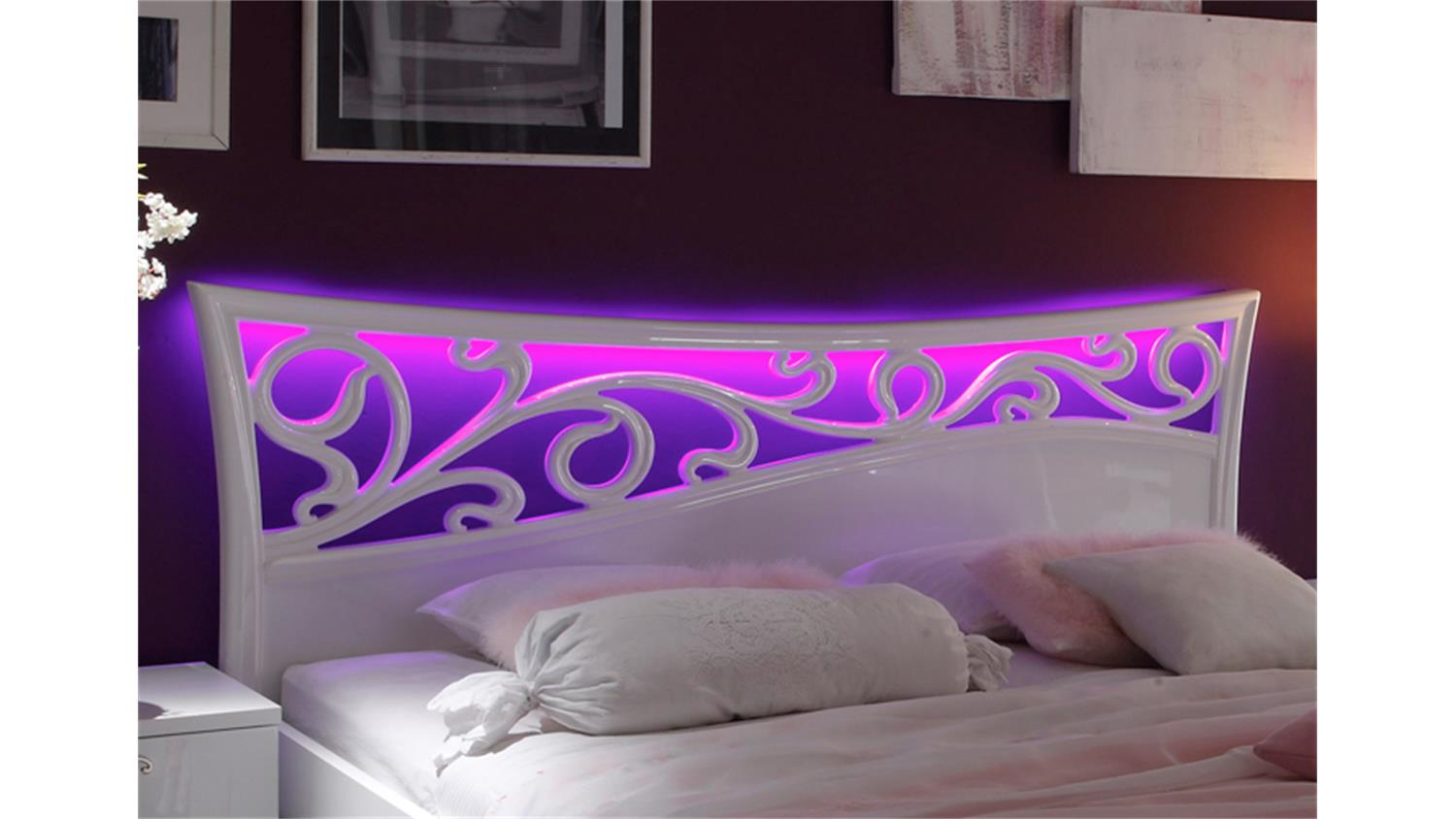 led rgb beleuchtung f r bett ambrosia. Black Bedroom Furniture Sets. Home Design Ideas