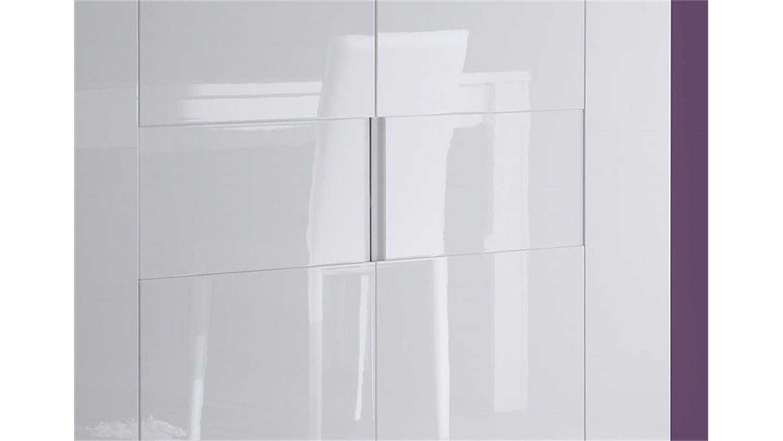 highboard eos in wei echt hochglanz lackiert 119 cm breit. Black Bedroom Furniture Sets. Home Design Ideas