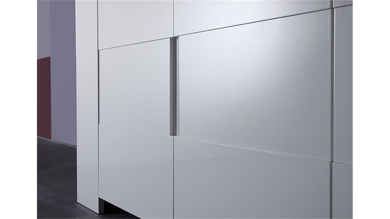 sideboard eos wei echt hochglanz lackiert 210 cm breit. Black Bedroom Furniture Sets. Home Design Ideas