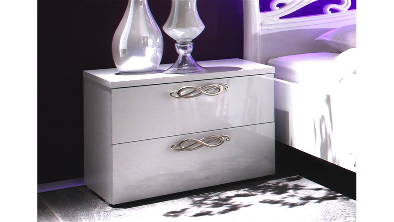 nachtkommode ambrosia hochglanz wei lackiert. Black Bedroom Furniture Sets. Home Design Ideas
