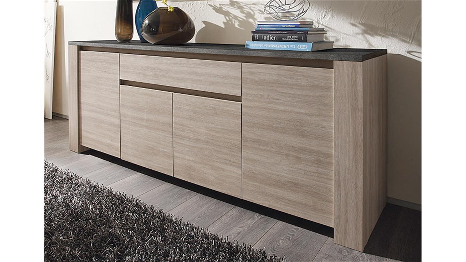 sideboard elba eiche gek lkt und marmoroptik. Black Bedroom Furniture Sets. Home Design Ideas