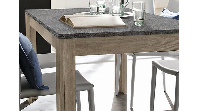 esstisch elba eiche gek lkt und marmoroptik 180x90 cm. Black Bedroom Furniture Sets. Home Design Ideas