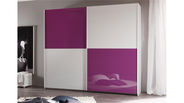 schwebet renschrank smart wei und lila hochglanz b 240 cm. Black Bedroom Furniture Sets. Home Design Ideas