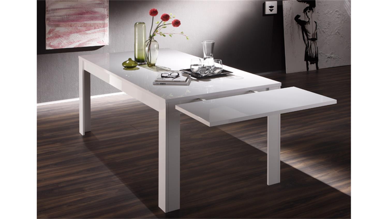 ansteckplatte f r esstisch amalfi wei hochglanz lackiert. Black Bedroom Furniture Sets. Home Design Ideas