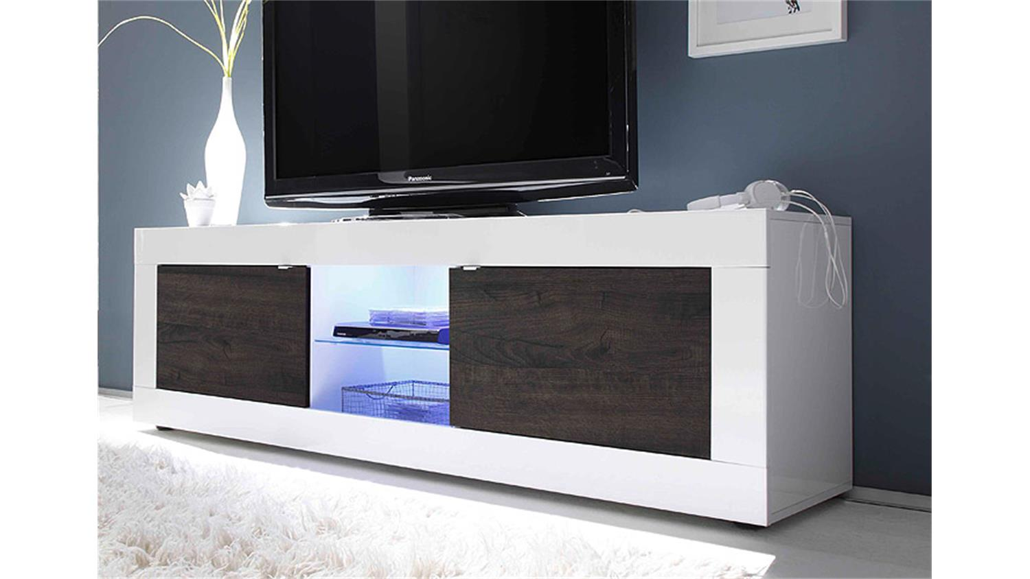tv element basic wei lackiert und eiche wenge b 181 cm. Black Bedroom Furniture Sets. Home Design Ideas