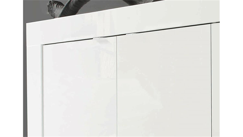 sideboard basic kommode wei lackiert b 160 cm. Black Bedroom Furniture Sets. Home Design Ideas