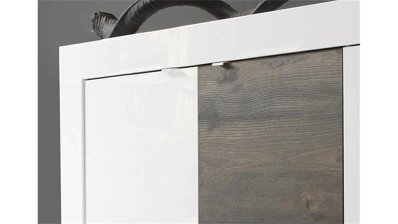 sideboard basic wei lackiert und eiche wenge b 160 cm. Black Bedroom Furniture Sets. Home Design Ideas