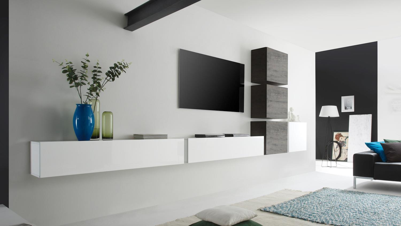 wohnwand cube kombi 7 eiche wenge und wei lack. Black Bedroom Furniture Sets. Home Design Ideas