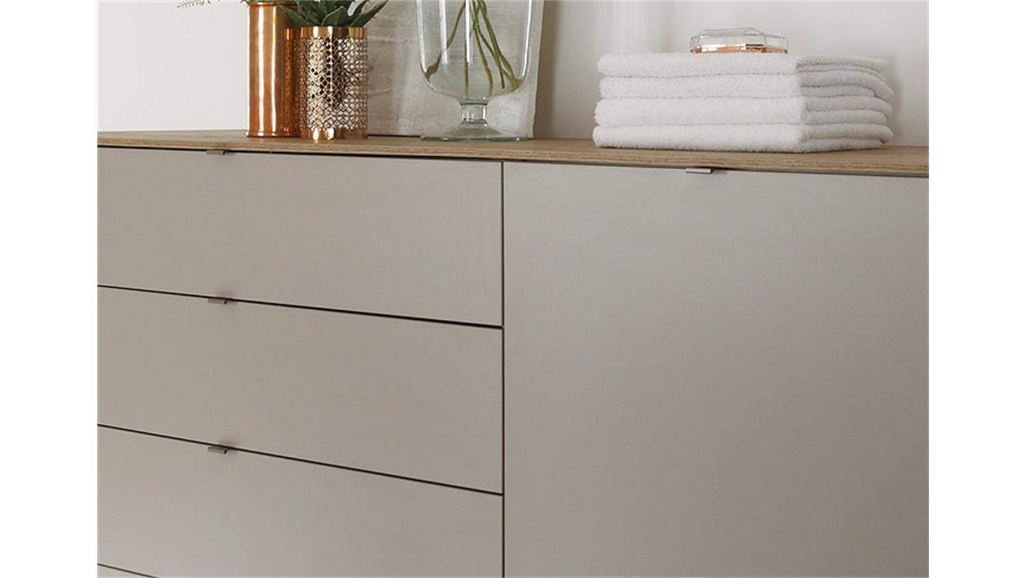 kommode sideboard pavos korpus in wei matt front in sandgrau hochglanz smash. Black Bedroom Furniture Sets. Home Design Ideas