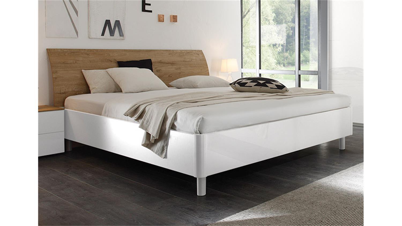 set 2 tambura weiß lack und eiche natur, Schlafzimmer entwurf