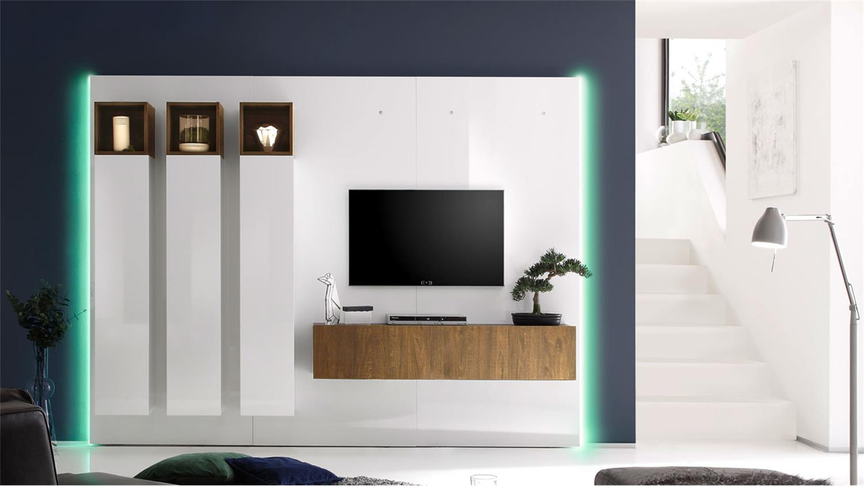 wohnwand wei hochglanz w rfel interessante ideen f r die gestaltung eines raumes. Black Bedroom Furniture Sets. Home Design Ideas