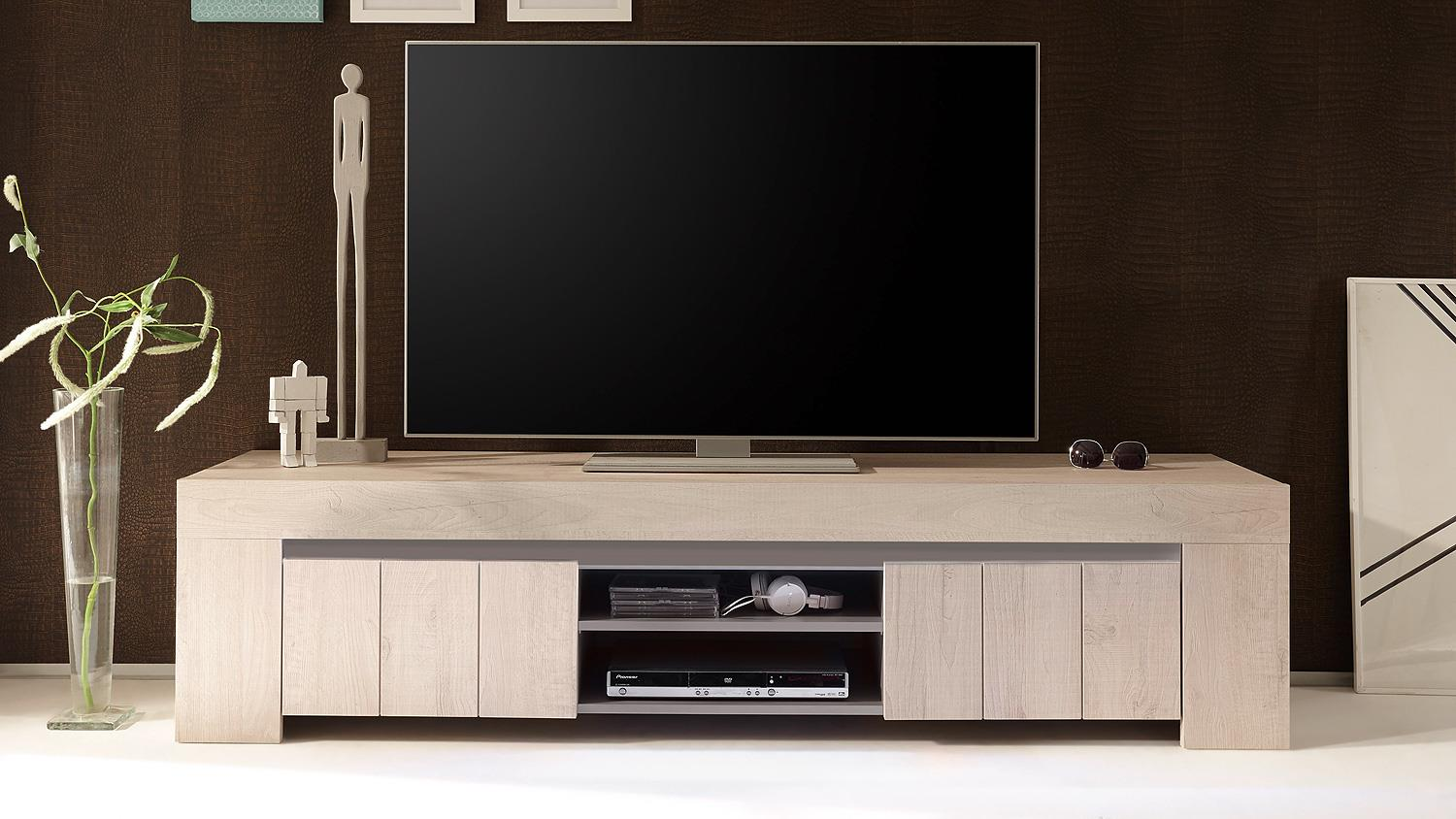 tv board palmira lowboard unterschrank eiche hell und. Black Bedroom Furniture Sets. Home Design Ideas