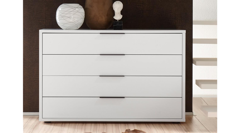kommode venere schubkastenkommode in wei lack matt. Black Bedroom Furniture Sets. Home Design Ideas