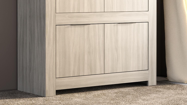 highboard capri buffet schrank 4 t rig in raucheiche und. Black Bedroom Furniture Sets. Home Design Ideas
