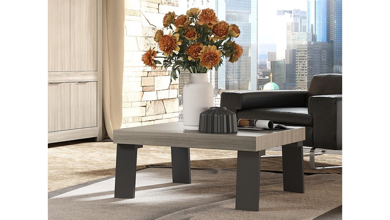 couchtisch capri wohnzimmertisch in raucheiche und anthrazit 86x86 cm. Black Bedroom Furniture Sets. Home Design Ideas