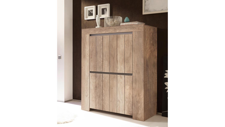 highboard palmira schrank 4 t rig canyon oak und beige. Black Bedroom Furniture Sets. Home Design Ideas