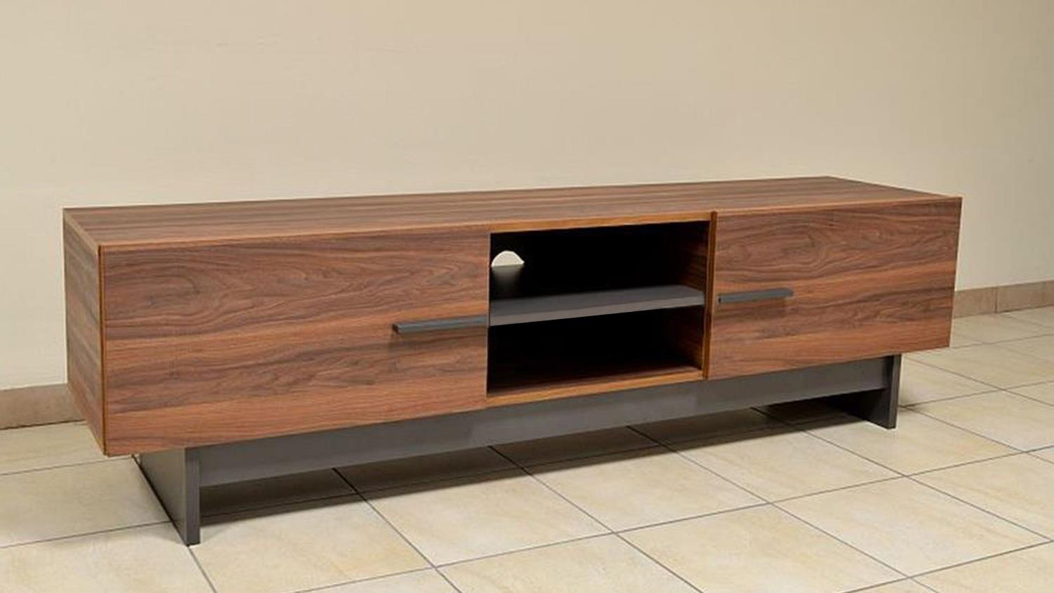 lowboard tv board sala hifi tv schrank in nussbaum 180 cm breit. Black Bedroom Furniture Sets. Home Design Ideas
