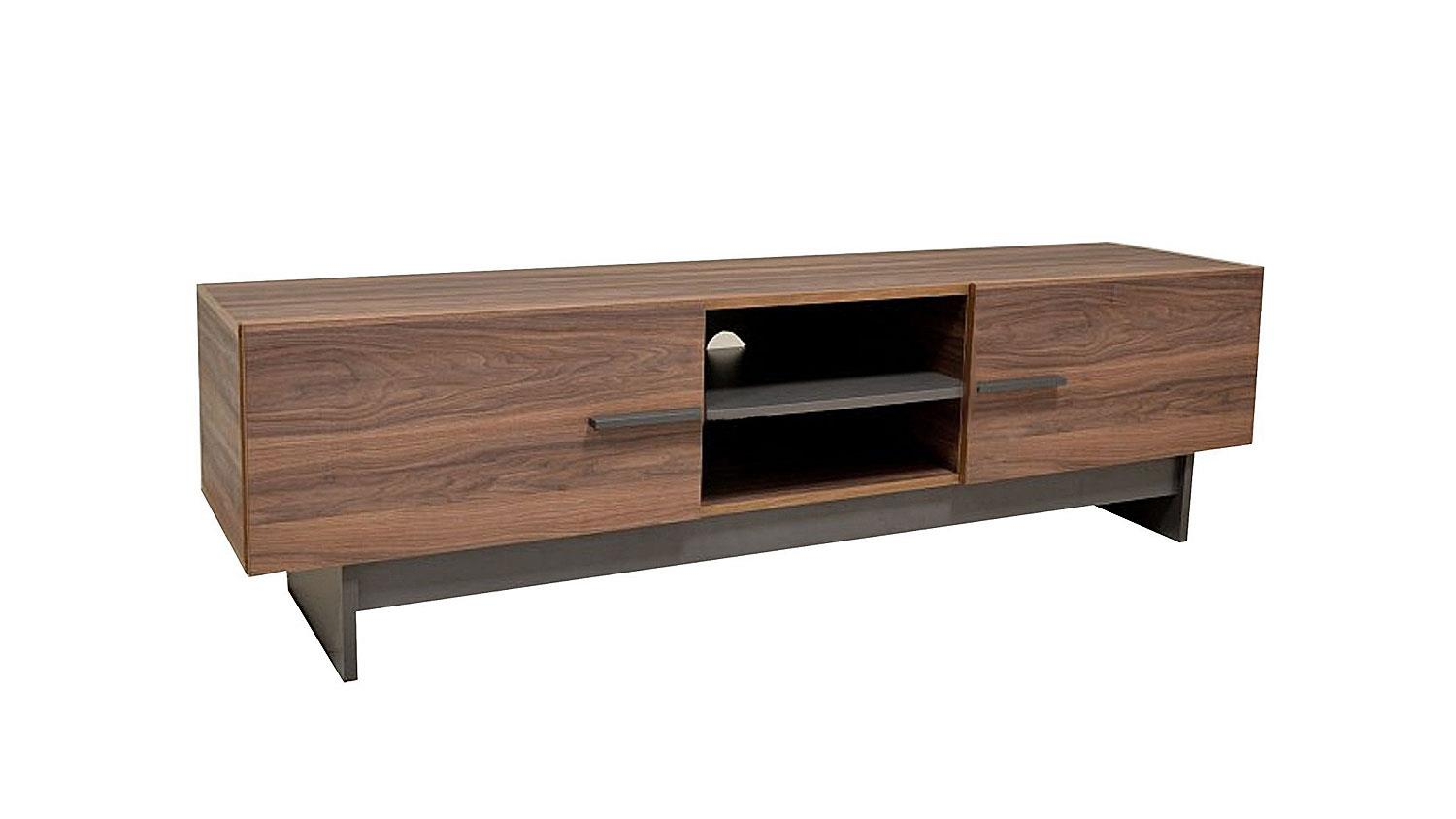 lowboard tv board sala hifi tv schrank in nussbaum 180 cm. Black Bedroom Furniture Sets. Home Design Ideas
