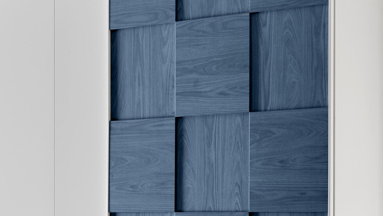 jugendzimmer joyz 2 wei lack und holzoptik blau 7 teilig. Black Bedroom Furniture Sets. Home Design Ideas