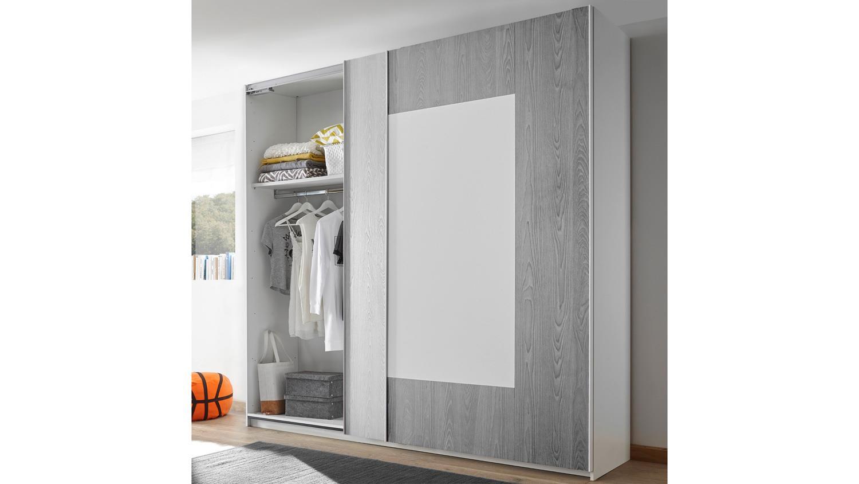 schlafzimmer joyz 4 jugendzimmer wei lack holzoptik grau. Black Bedroom Furniture Sets. Home Design Ideas