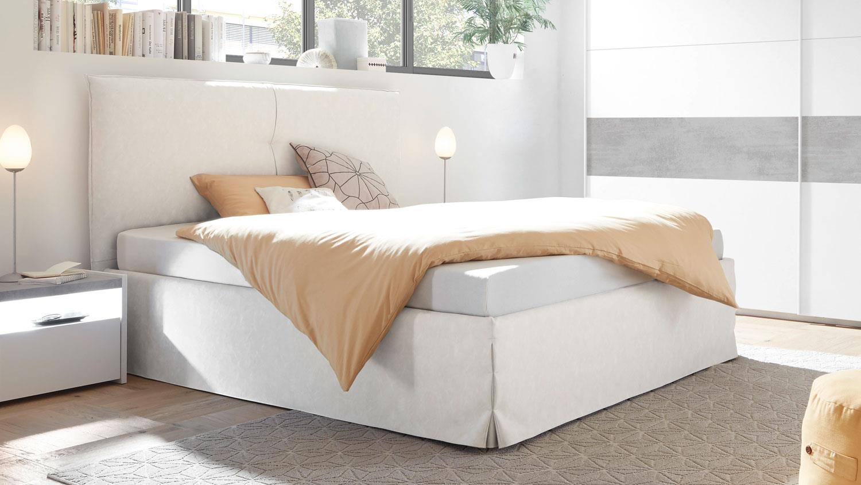 polsterbett amalti bett schlafzimmer in wei 180x200. Black Bedroom Furniture Sets. Home Design Ideas