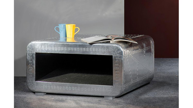 couchtisch airman mit aluminium beschlagen. Black Bedroom Furniture Sets. Home Design Ideas