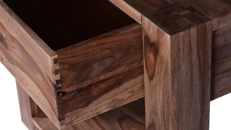 Telefontisch Thor Aus Sheesham Holz Massiv Mit 1 Schubkasten