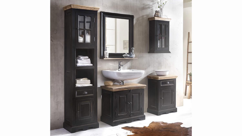 badm bel set corsica von sit mango mdf schwarz honig. Black Bedroom Furniture Sets. Home Design Ideas
