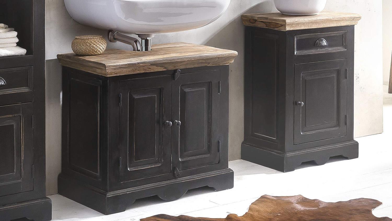 badmobel schwarz, badmöbel set corsica von sit mango mdf schwarz honig, Design ideen