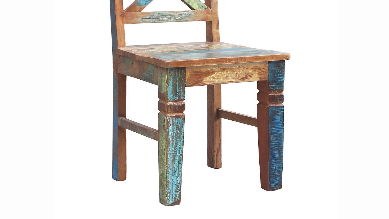 stuhl riverboat esszimmerstuhl aus altholz in bunt lackiert. Black Bedroom Furniture Sets. Home Design Ideas