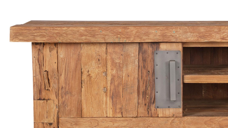 lowboard coral recyceltes teak natur massivholz 130 cm. Black Bedroom Furniture Sets. Home Design Ideas