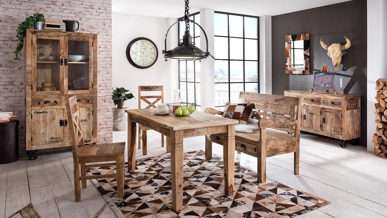 kommode rustic mango massivholz lackiert natur antik. Black Bedroom Furniture Sets. Home Design Ideas