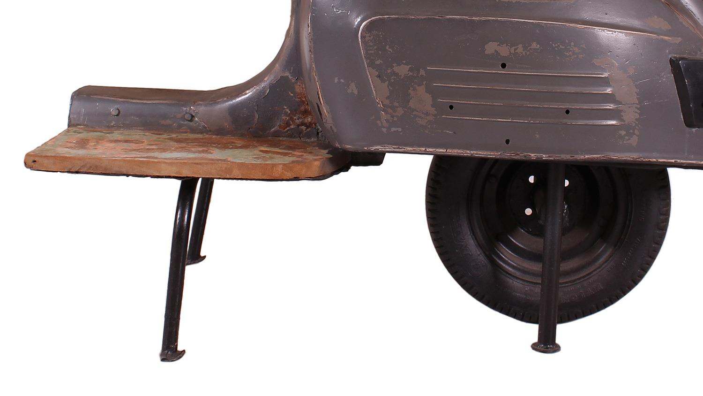 Roller barhocker this that altmetall grau lack sitz braun for Graue barhocker