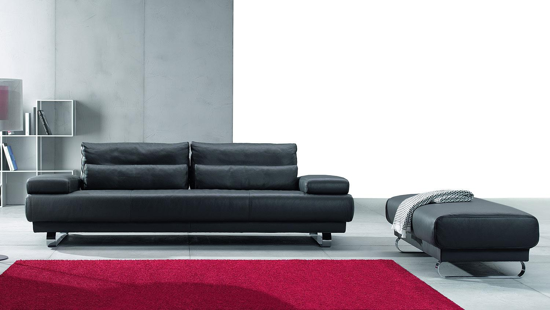 Ledersofa schwarz 3 sitzer  HARRY 3-Sitzer Leder schwarz 230 cm Ewald Schillig