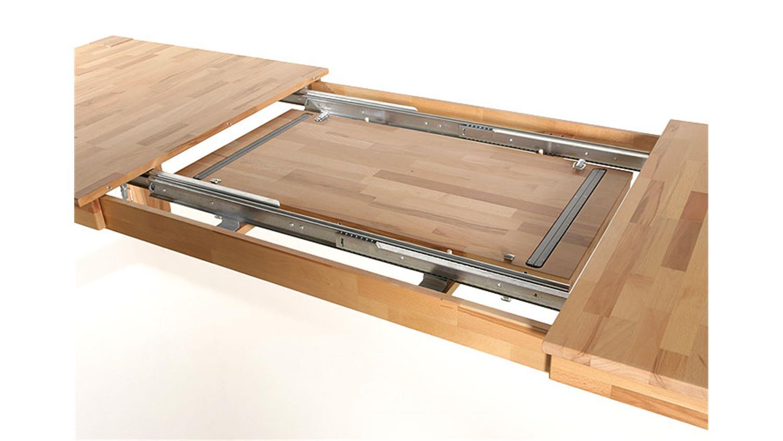 Esstisch kernbuche massiv lackiert ausziehbar for Esstisch 80x80 ausziehbar massiv