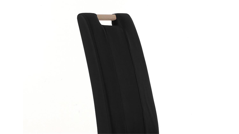 Stuhl samiro 2 schwarz und sonoma eiche mit griff for Esszimmerstuhl mit griff
