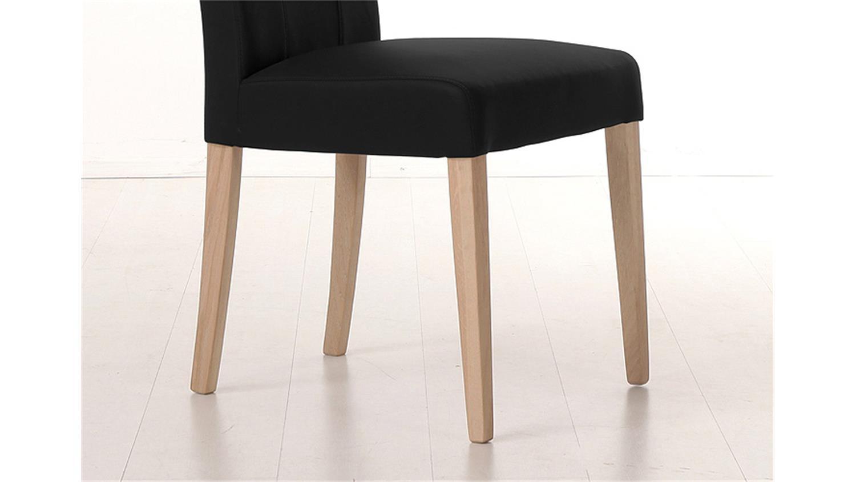 stuhl samiro 2 schwarz und sonoma eiche mit griff. Black Bedroom Furniture Sets. Home Design Ideas