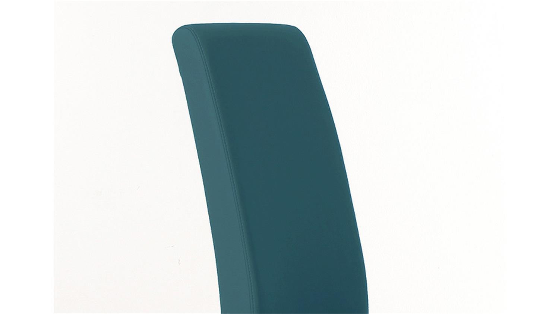 stuhl samiro 1 polsterstuhl in petrol blau und sonoma eiche. Black Bedroom Furniture Sets. Home Design Ideas