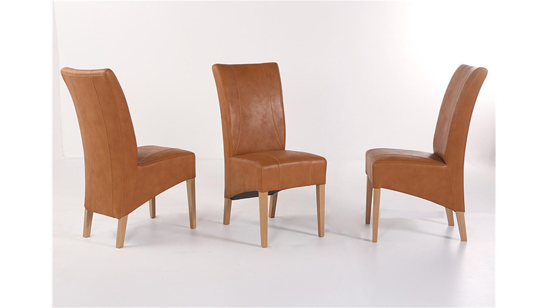 Stuhl julian polsterstuhl in hellbraun und eiche natur for Stuhl eiche