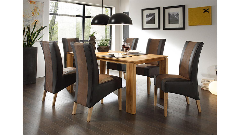 stuhl julian dunkelbraun braun und eiche natur. Black Bedroom Furniture Sets. Home Design Ideas
