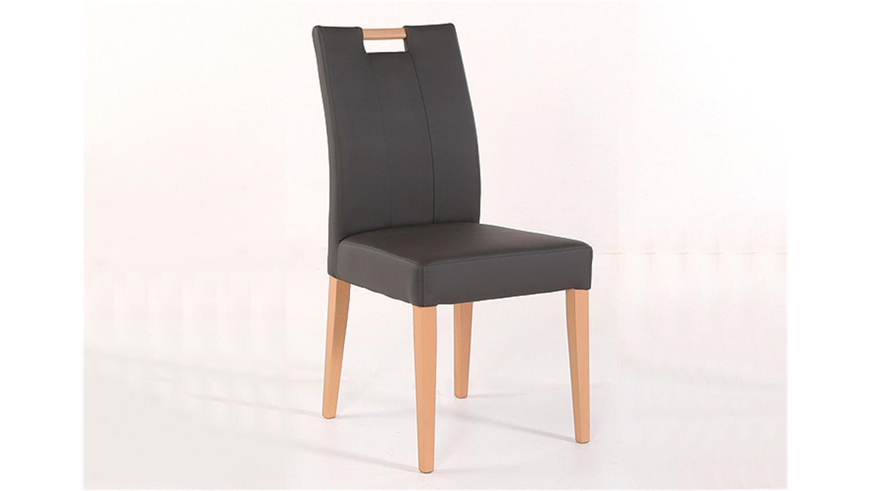 Stuhl laura mit griff buche natur und fango dunkelgrau for Esszimmerstuhl mit griff