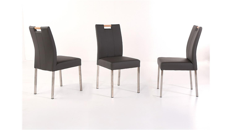 Stuhl laura mit griff buche natur fango dunkelgrau edelstahl for Esszimmerstuhl mit griff